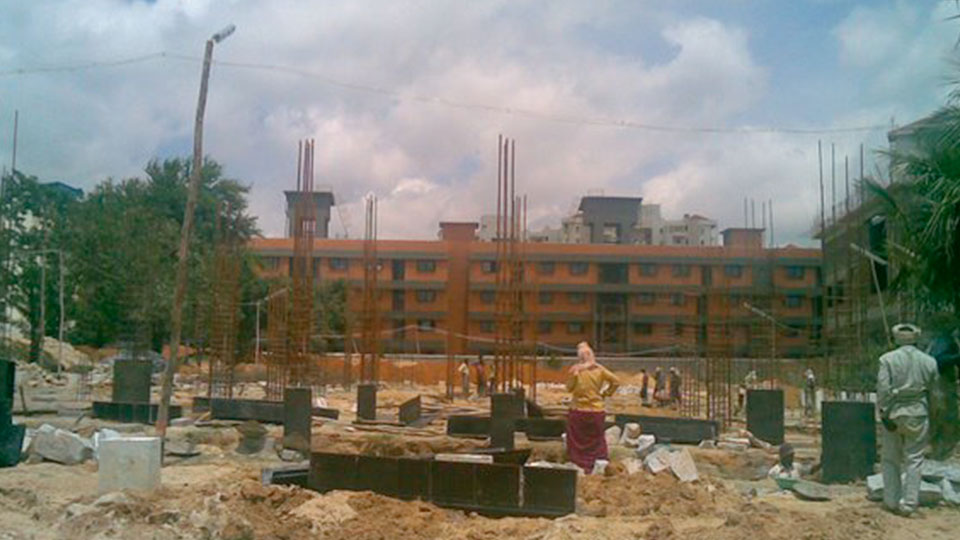 Footing and Column Erection
